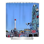 Coney Island's Astroland  Shower Curtain