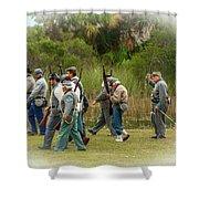 Confederate Advance Shower Curtain