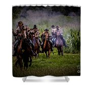 Confederate Cavalry Charge Shower Curtain