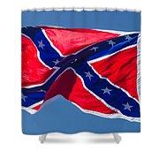 Confederate Flag 3 Shower Curtain