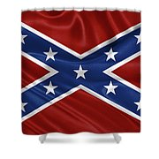Confederate Flag - Second Confederate Navy Jack And The Battle Flag Of Northern Virginia Shower Curtain