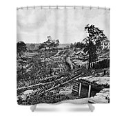 Confederate Fort Shower Curtain