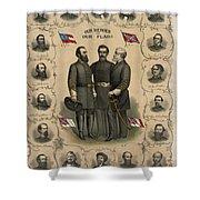 Confederate Generals Of The Civil War Shower Curtain