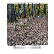13 Unknown Confederate Soldiers - Natchez Trace Shower Curtain