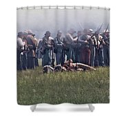 Confederate Infantry Skirmish  Shower Curtain