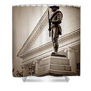 Confederate Memorial In Sepia Tone Shower Curtain