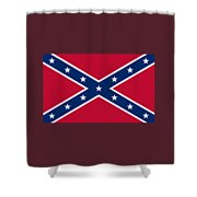 Confederate Naval Jack Flag Shower Curtain