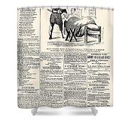 Confederate Newspaper Shower Curtain