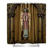 Confessional - Our Lady Of Lourdes Cathedral - Spokane Shower Curtain