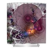 Confetti - Fractal Art Shower Curtain