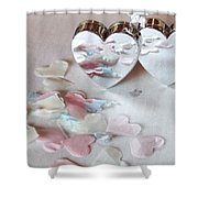 Confetti Hearts Shower Curtain