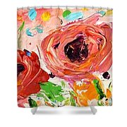 Confetti Poppies Shower Curtain