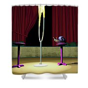 Confidence Shower Curtain by Cynthia Decker