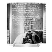 Confidently Lost - Immortal Beloved Love Letter Shower Curtain