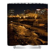 Confluence Park Rapids At Night Shower Curtain