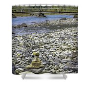 Confounded Bridge Shower Curtain