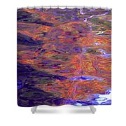 Contour Of Hot Energy Lines Shower Curtain