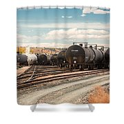 Congested Tracks Shower Curtain