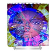 Congo Queen Mandala Shower Curtain