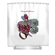 Congratulation Cards Shower Curtain