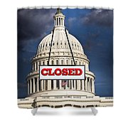 Congress Closed. Shower Curtain