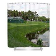 Congressional Blue Course - Sweet Par 3 10th Shower Curtain