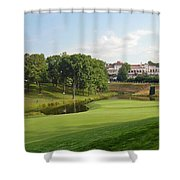Congressional Blue Course - The Finish - Par 4 18th Shower Curtain