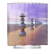 Conical Geometric Progression Shower Curtain