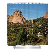 Coniferous Trees In The Garden Of The Gods Shower Curtain