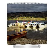 Coniston Water Boats Shower Curtain