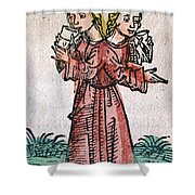 Conjoined Twins, Nuremberg Chronicle Shower Curtain