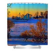 Conley Road Farm Winter  Shower Curtain