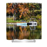 Connect Lake In The Fall Shower Curtain