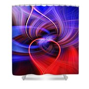 Connected Hearts Shower Curtain