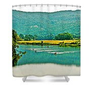 Connecticut River Between New Hampshire And Vermont Shower Curtain