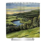 Connecticut River Valley View Two Shower Curtain