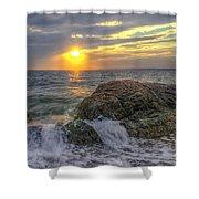 Connecticut Sunset Shower Curtain