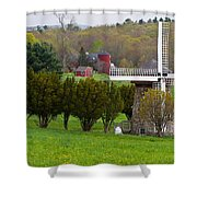 Connecticut Windmill. Shower Curtain
