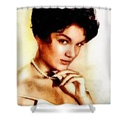 Connie Francis, Music Legend By John Springfield Shower Curtain