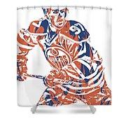 Connor Mcdavid Edmonton Oilers Pixel Art 3 Shower Curtain