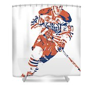 Connor Mcdavid Edmonton Oilers Pixel Art 6 Shower Curtain