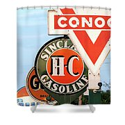 Conoco Sign 081117 Shower Curtain