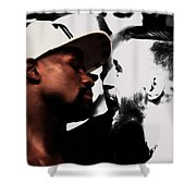 Conor Mcgregor And Floyd Mayweather Face Off  Shower Curtain