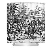 Conquest Of Inca Empire Shower Curtain