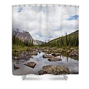 Consolation Lake Banff Shower Curtain