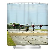 Consolidated B-24j Liberator Shower Curtain