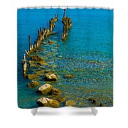 Constance Lake Landscape Shower Curtain