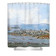 Constantinople Ships Shower Curtain
