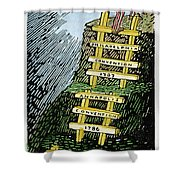 Constitution Cartoon Shower Curtain