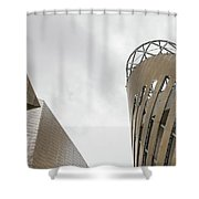 Constructed Using Stripes Shower Curtain